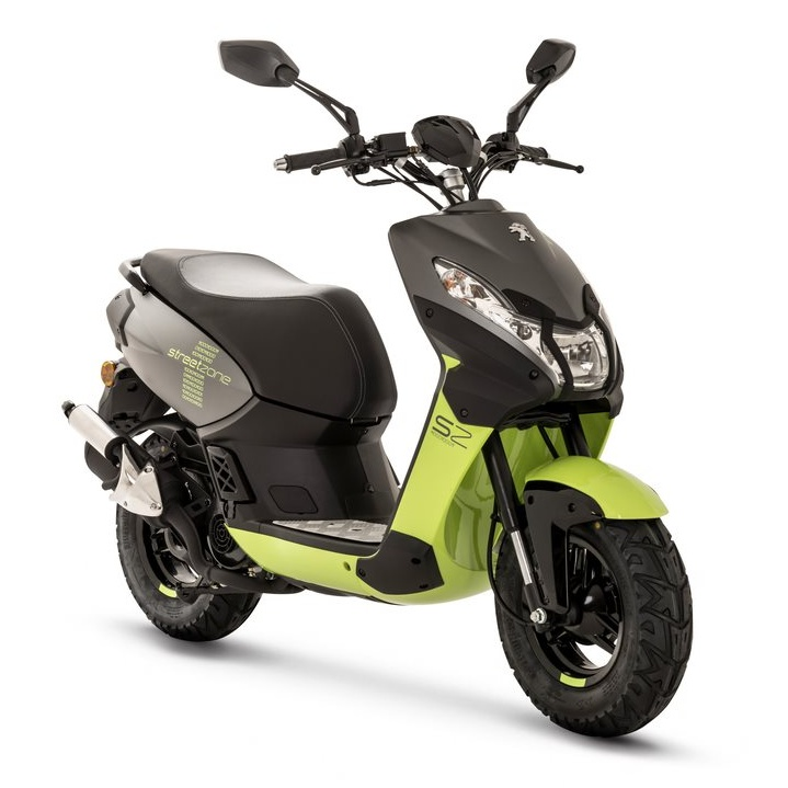 "Peugeot Streetzone 50i 2T Basic 10"" Fluo apple green"